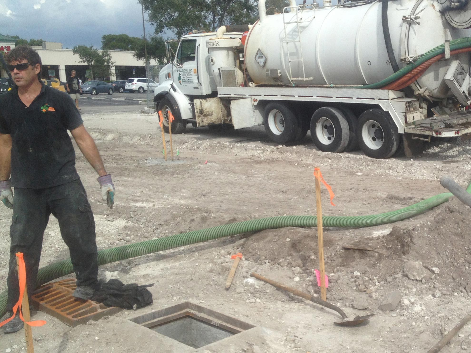 South Florida Storm Drain Cleaning Parking Lot Drainage